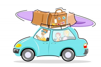 Carton car vacation